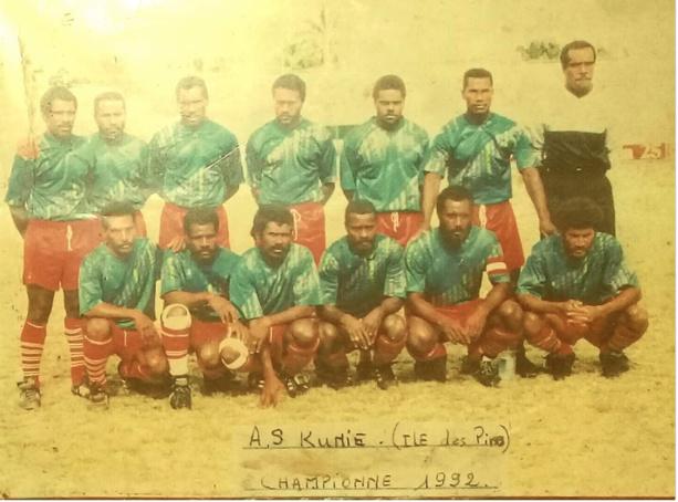 AS Kunié (Ile des Pins) championne en 1992