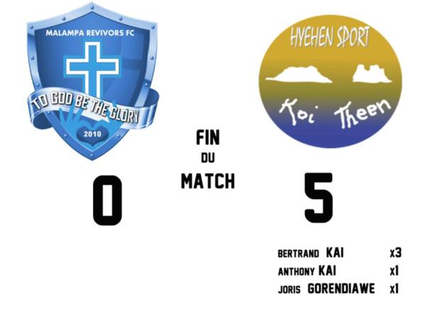 HIENGHENE cartonne d'entrée (5-0) / Champions League OFC