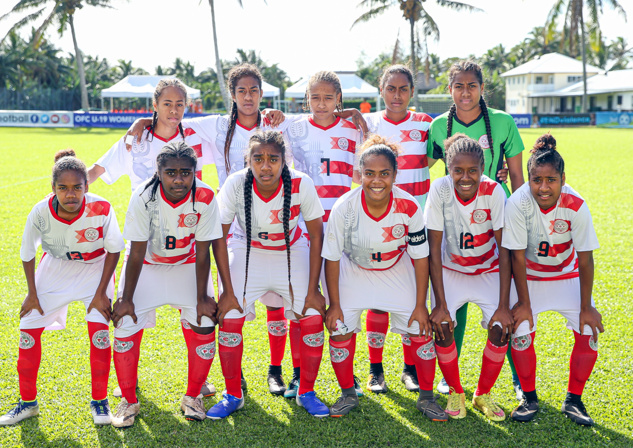 Les cagoues filent en demies / NC vs TONGA : 4 - 2 /  U19 Féminines