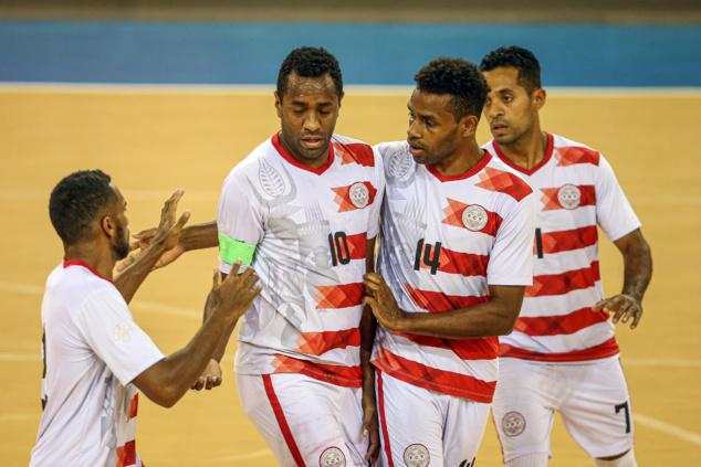 Nouvelle-Calédonie contre Nouvelle-Zélande pour la première place du groupe / Coupe des Nations FUTSAL