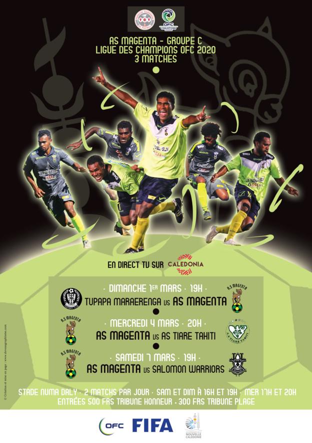 Au TOUR de MAGENTA / Champions League OFC (groupe C) - coup d'envoi dimanche / en DIRECT TV