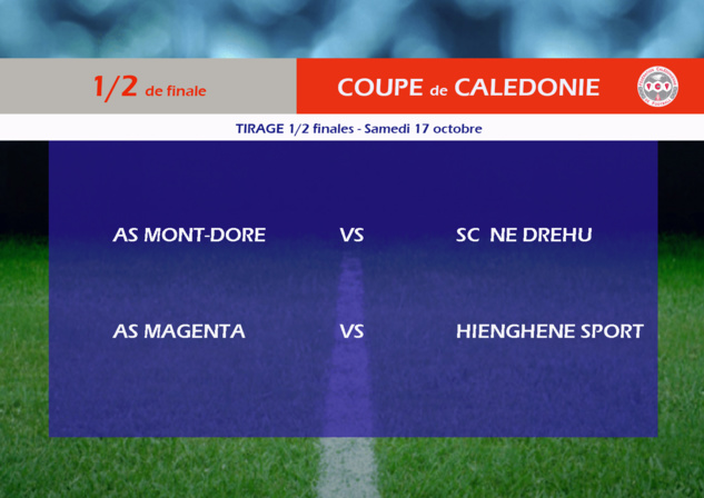 MAGENTA-HIENGHENE et MONT DORE - NE DREHU / Tirage 1/2 finale COUPE de CALEDONIE