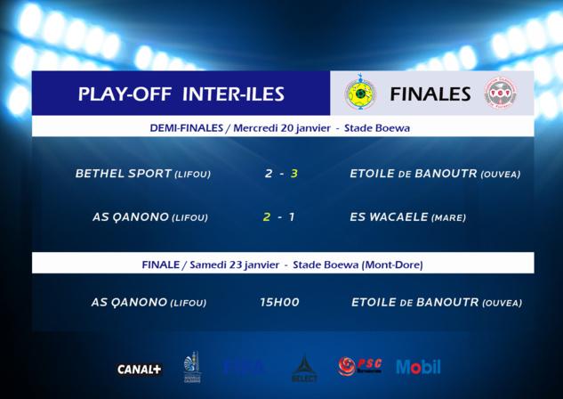 BANOUTR et QANONO en finale /  Résumé VIDEO des 1/2 finales INTER ILES (FCF TV)
