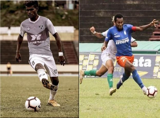 Pothin POMA (à gauche) et Gabriel VAKOUME (à droite) se sont imposés comme des incontournables dans l'élite du football tahitien
