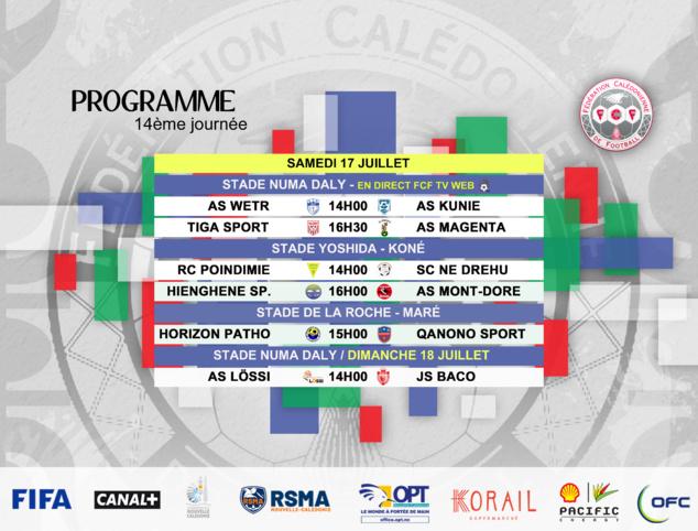 Programme du week-end / SUPER LIGUE J14 + FUTSAL J5 + Coupe U18 (4ème tour)