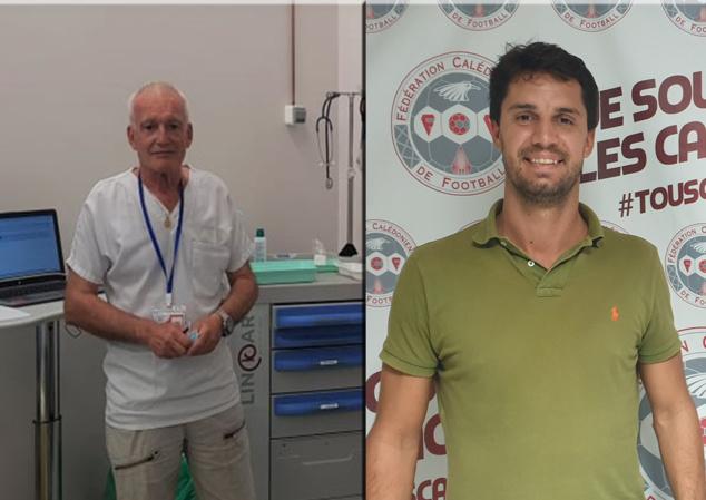 Le Docteur SABOT, fidèle médecin du football calédonien depuis plusieurs années (à gauche), et le Docteur Bastien ANTOINE (aussi créateur du site Foot NC, partenaire de la FCF), nous livrent leurs sentiments quant à la crise COVID.