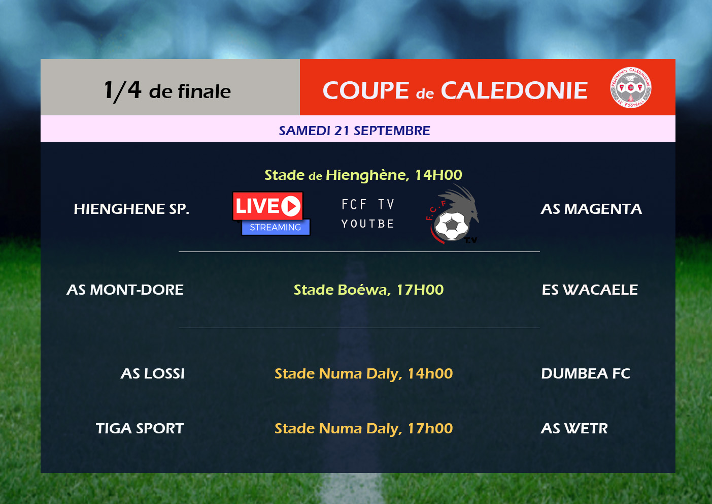 Hienghène vs Magenta - 1/4 de finale de Coupe / VIDEO
