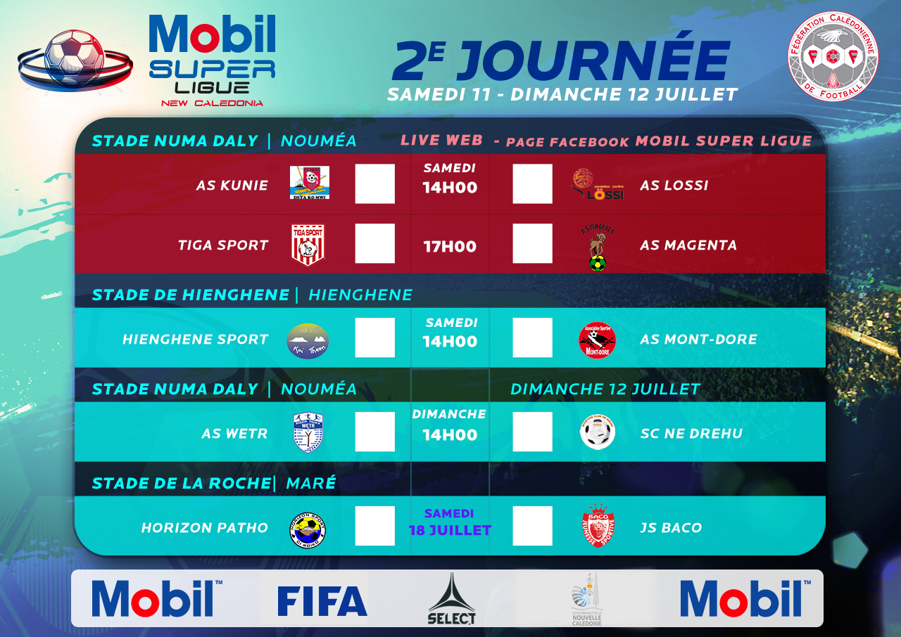 Mobil Super Ligue - Journée 1