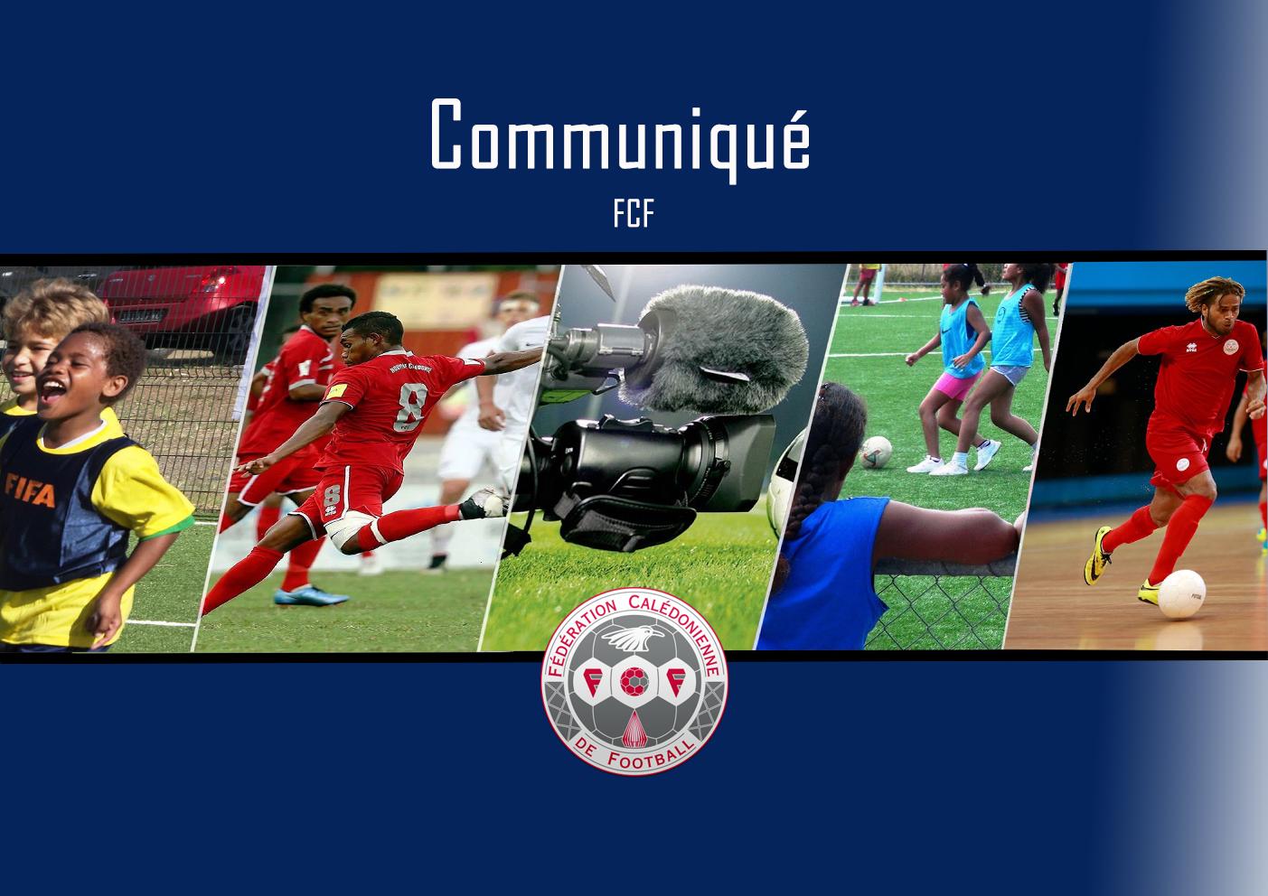 Le football calédonien à l'arrêt / Communiqué FCF