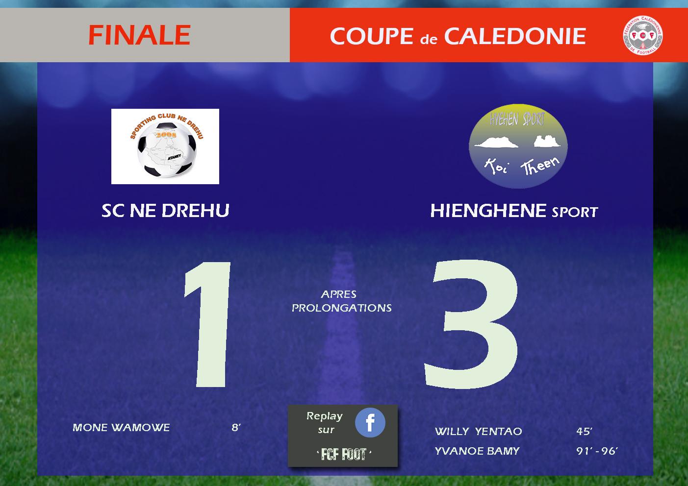 Et de 4 pour HIENGHENE SPORT  / Finale - Coupe de Calédonie / REPLAY VIDEO