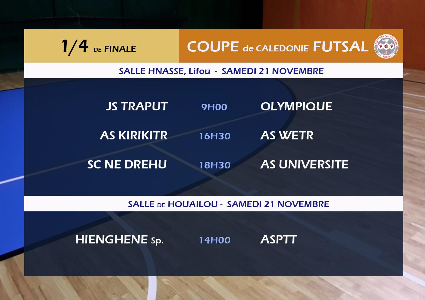 """"""" Que du bonus """" / Thierry ROKUAD, entraîneur - As KIRIKITR / Quarts de finale - COUPE FUTSAL"""
