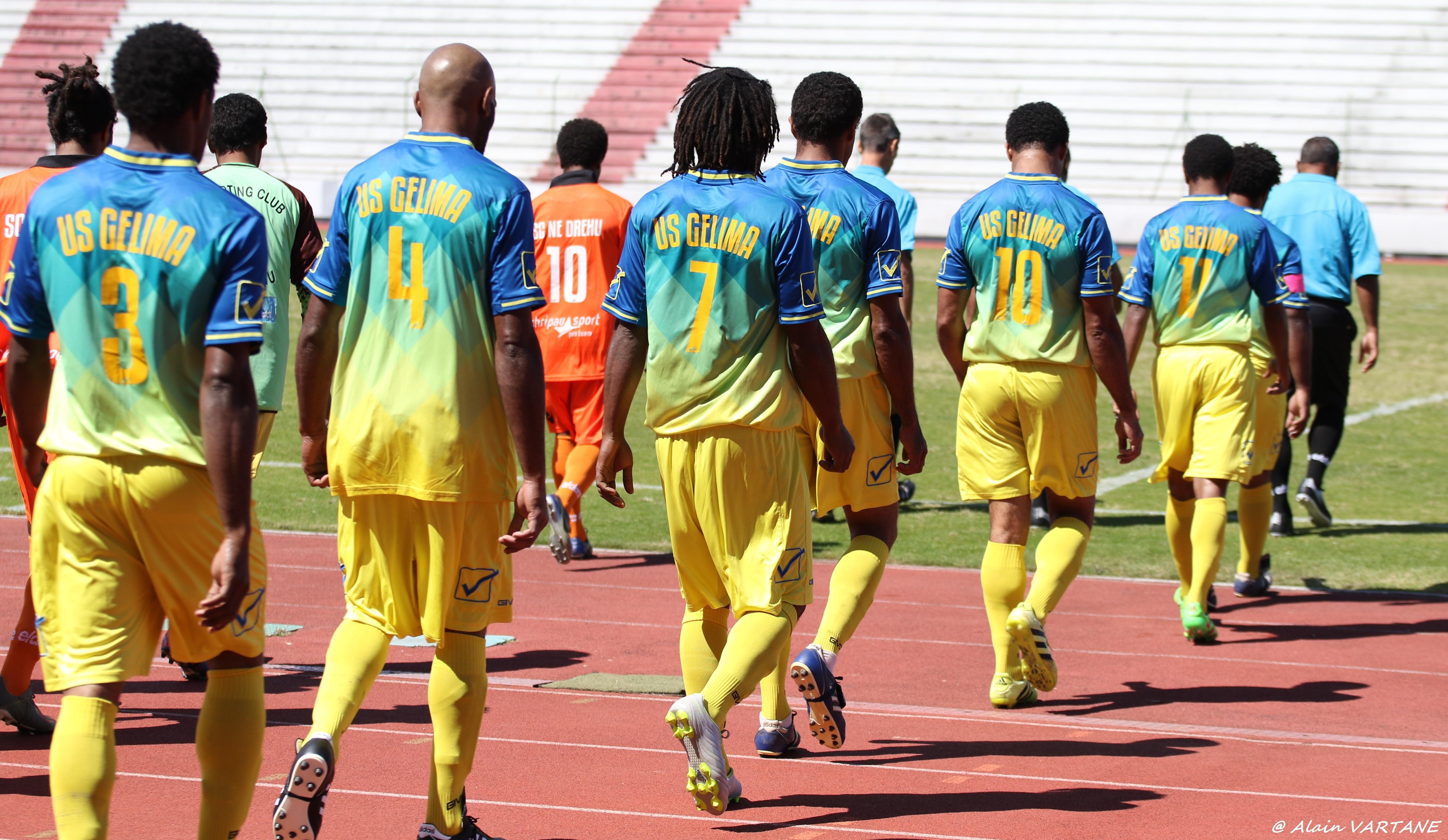 L'US GELIMA, ici en huitièmes de finale de la COUPE de CALEDONIE 2020, face à Ne Drehu (défaite 0-2). Credit Photo : ALAIN VARTANE