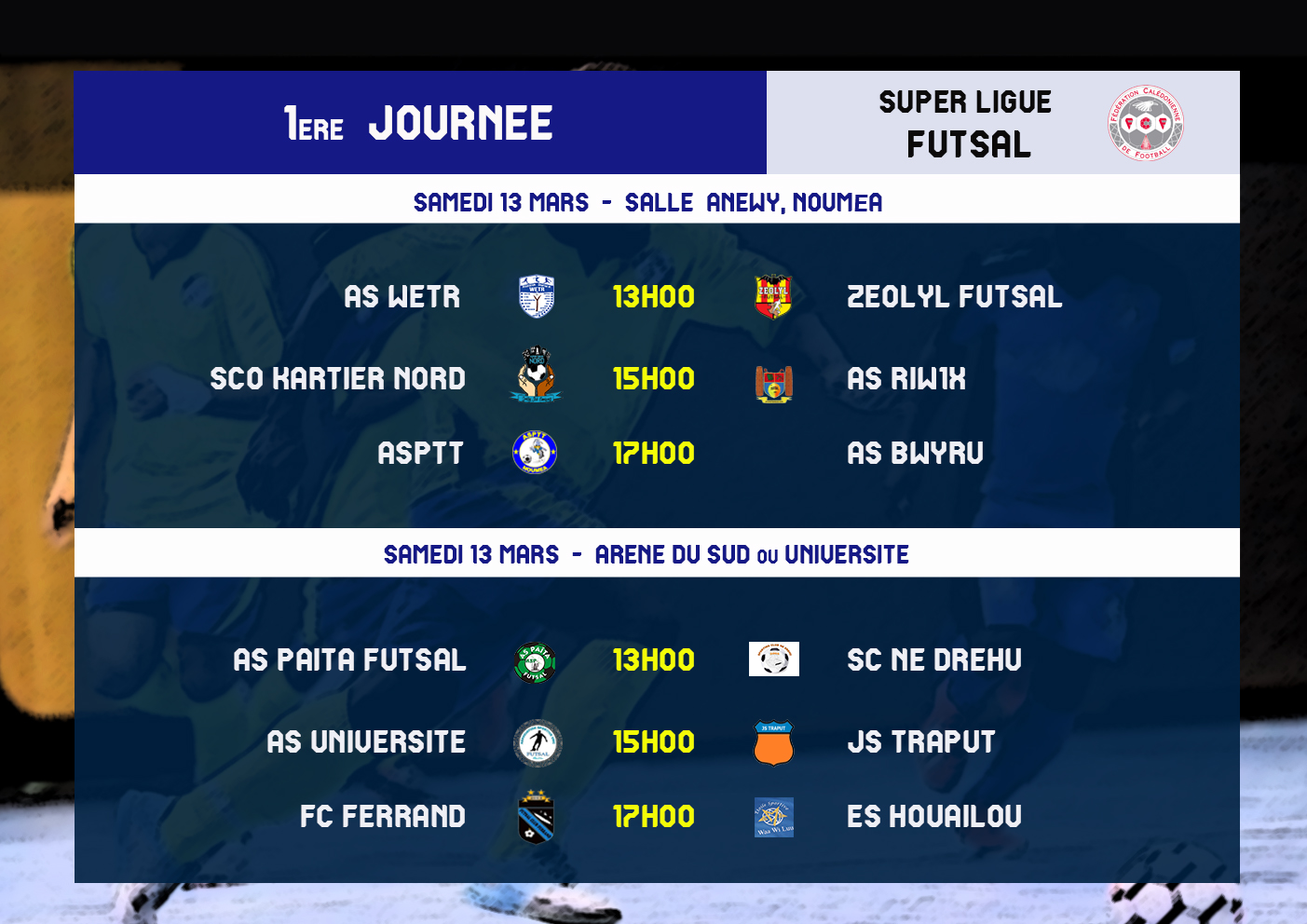 La SUPER LIGUE FUTSAL connait son calendrier 2021 / FCF