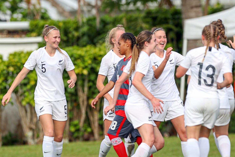Laëtitia LEME, face à la Nouvelle-Zélande, lors de la finale OFC U19 de 2019.