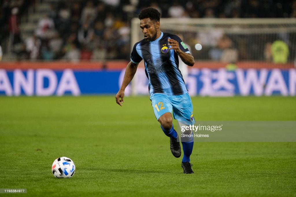 Antoine ROINE, toujours aussi efficace devant le but en cette saison 2021 avec Hienghène Sport. Le maréen est auteur d'une énorme première partie de saison. Crédit Photo : gettyimages, Coupe du Monde des Clubs de la FIFA 2019 au Qatar.