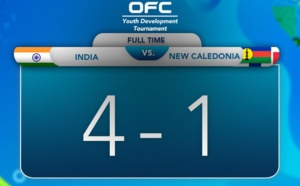INDE - NOUVELLE CALEDONIE : 4 - 1 / Tournoi international OFC U18