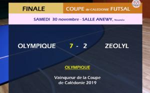 L' OLYMPIQUE remporte sa 6ème COUPE de CALEDONIE FUTSAL / VIDEO