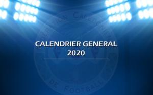 Le calendrier Général Senior Elite 2020