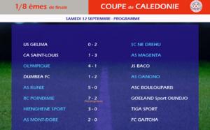 RESULTATS des 8èmes de finale / COUPE de CALEDONIE