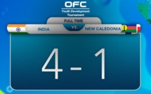 INDE - NOUVELLE CALEDONIE : 4 - 1 / Tournoi international OFC U18 - VIDEO
