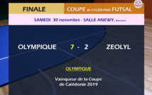 L' OLYMPIQUE remporte sa 6ème COUPE de CALEDONIE FUTSAL / VIDEO
