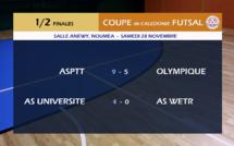 L'ASPTT et l'AS UNIVERSITE filent en FINALE / Coupe de Calédonie FUTSAL